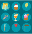happy birthday party celebration entertainment vector image