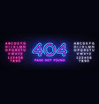 404 page not found banner 404 error design vector image vector image