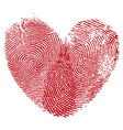 Heart fingerprint vector | Price: 1 Credit (USD $1)