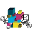 Abstract Cube Construction vector image