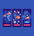 aquarius man mobile app screens vector image vector image