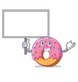 bring board donut character cartoon style vector image