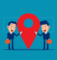 business and partner team near location point vector image