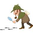Cartoon a detective investigate