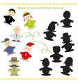 Cartoon of Find the Shadow vector image vector image