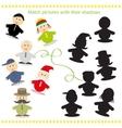 Cartoon of Find the Shadow vector image vector image