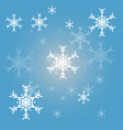 christmas snowflakes blue background vector image vector image