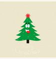 christmaschristmas tree vector image vector image