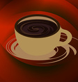 Coffee cup and saucer vector image