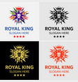 crown lion king crest logo template vector image vector image