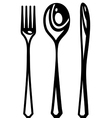 Cutlery abstract vector image vector image