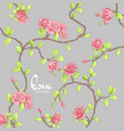 delicate roses on a dark background vector image vector image