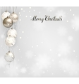 elegant Christmas background with silver and white vector image vector image