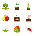 farm ecology nature and other web icon in vector image
