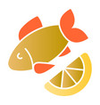 fish and lemon flat icon cuisine color icons in vector image vector image