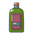 flat bottle icon cartoon style vector image vector image