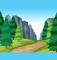 flat road in nature vector image vector image