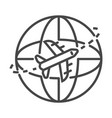 global air delivery icon outline style vector image vector image