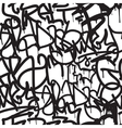 Graffiti background seamless pattern vector image vector image