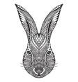 Hand drawn graphic ornate head of rabbit vector image