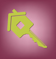 key in the house real estate icon home sign vector image vector image