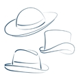 Lady and gentleman hats vector image
