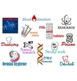Medical and scientific elements vector image