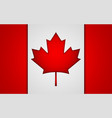 national canada flag eps10 vector image vector image