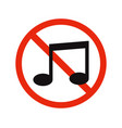 no music vector image
