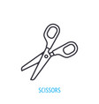 opened stationery scissors outline icon vector image