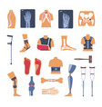 orthopedics surgery medicine icons vector image