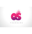 os o s letter logo with pink purple color and vector image vector image
