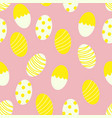 painted easter eggs with stripes and dots seamless vector image