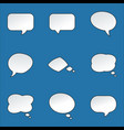 paper speech bubble with round corners on yellow vector image vector image