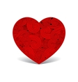 Patterned cute red heart vector image vector image