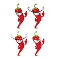 Pepper set vector image