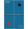 pingpong poster template vector image vector image