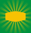 Radial stripes on green with yellow frame vector image vector image