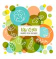 Raw Vegan Organic fresh vegetables doodles vector image vector image