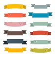 Retro Ribbons Set Set on White Background vector image