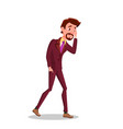 sad businessman went broke man wearing inpants vector image vector image