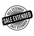 sale extended rubber stamp vector image vector image