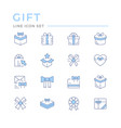 set color line icons gift vector image vector image