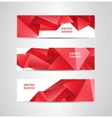 Set of abstract red crystal faceted vector image vector image