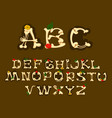 set of english alphabet decorated with flowers vector image vector image