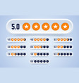set rating labels with stars vector image vector image