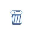 solar battery line icon concept vector image vector image