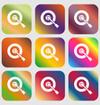 target icon Nine buttons with bright gradients vector image vector image