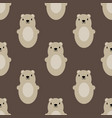 teddy bear seamless art brown simple pattern vector image vector image