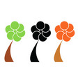 three trees set - ecology concept vector image vector image